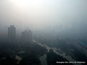 "Shanghai's air pollution' Courtesy of Google's ""free to use images'."